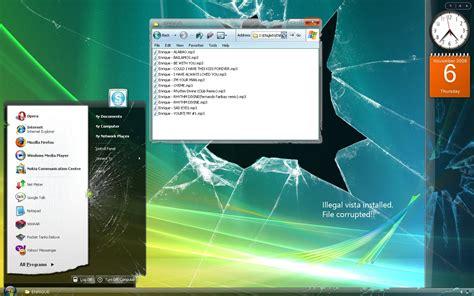 aero themes desktop backgrounds the broken aero vista by cyphervisor on deviantart