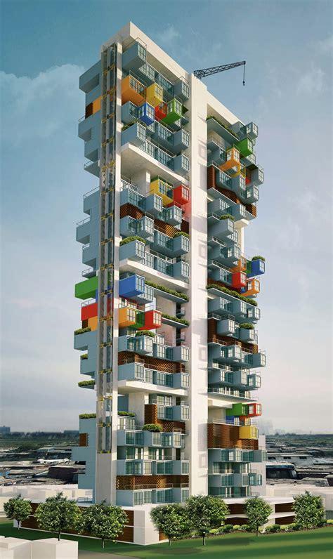 Storage Container Floor Plans - gallery of ga designs radical shipping container skyscraper for mumbai slum 2 slums
