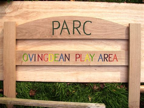 Handmade House Signs - parc handmade wooden sign woodcott bespoke carved