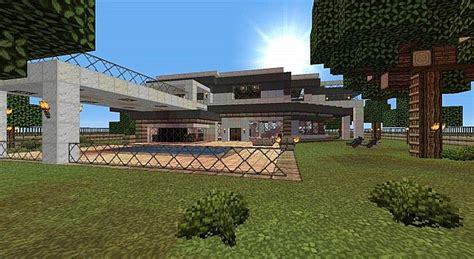 medium houses medium size modern house minecraft project