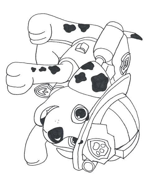 printable images of paw patrol free coloring pages