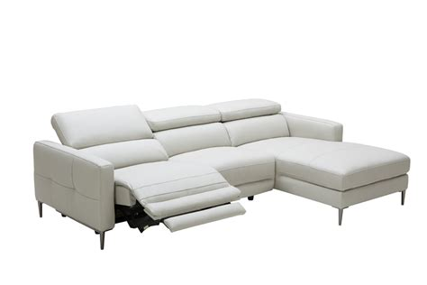 leather sectional recliner sofas divani casa booth modern light grey leather sectional sofa
