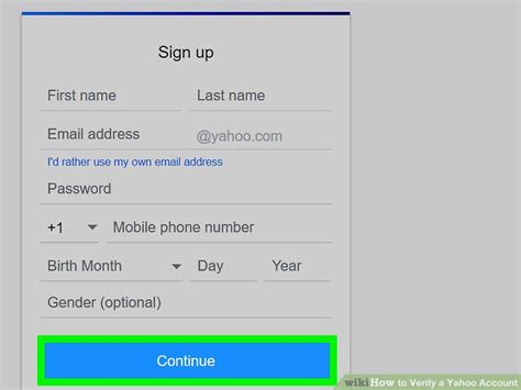 yahoo email verification code not received how to verify a yahoo account 7 steps with pictures