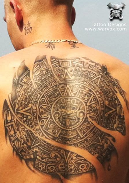 wicked tattoos designs aztec calendar 187 aztec tattoos aztec mayan inca