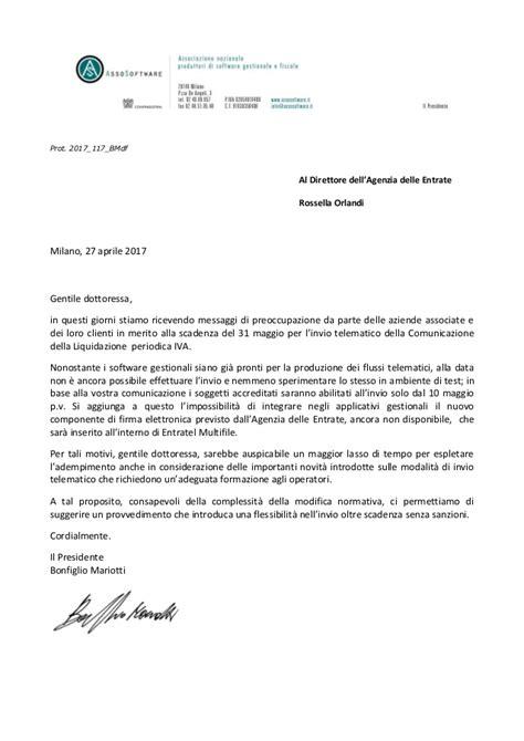 lettere agenzia delle entrate lettera alla agenzia dell entrate