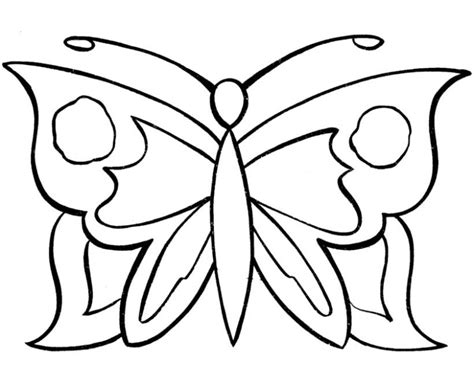 simple coloring pages of butterflies butterfly to color az coloring pages