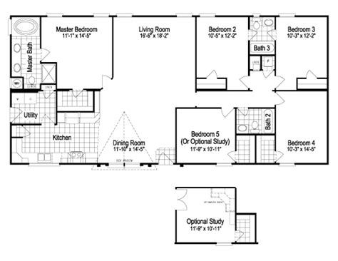 5 bedroom manufactured home floor plans bedroom floor plans mobile home gimmie tlt modular
