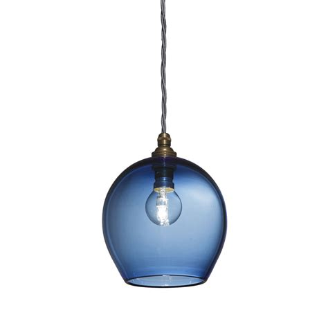 Blue Pendant Light by Blue Glass Pendant Light
