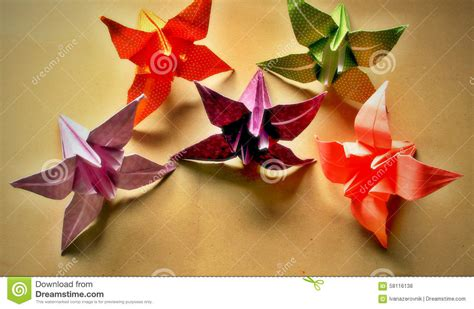 Decorative Origami - origami stock photo image 58116138