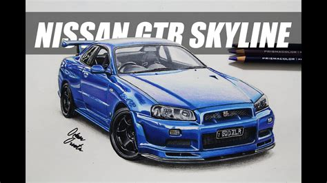 nissan skyline drawing nissan gtr skyline r34 199 izim car drawing