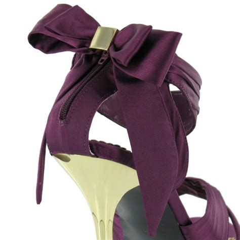 Blink Top Purple blink blink womens satin strappy bow sandals purple