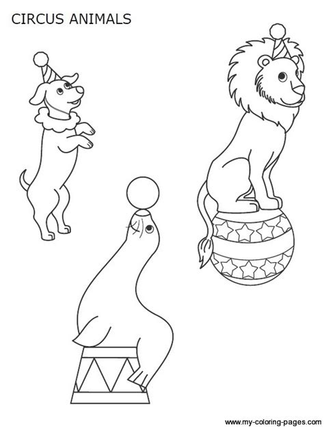Circus Animals Coloring Pages Getcoloringpages Com Circus Animals Coloring Pages