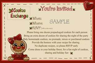 cookie invitation template petal hollow cookie exchange the invitation