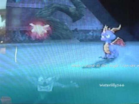 crash bandicoot in the ice in spyro: the eternal night