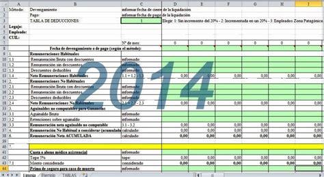 deducciones ganancias ddjj anual 2015 planilla excel para el c 225 lculo de las retenciones