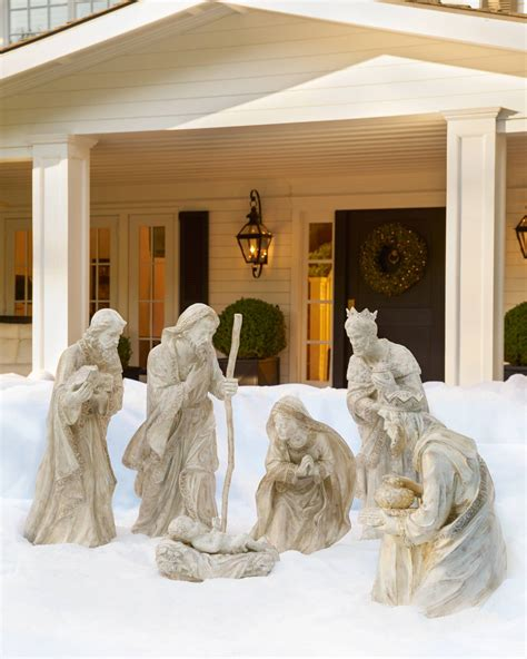 large outdoor nativity clearance outdoor nativity set balsam hill