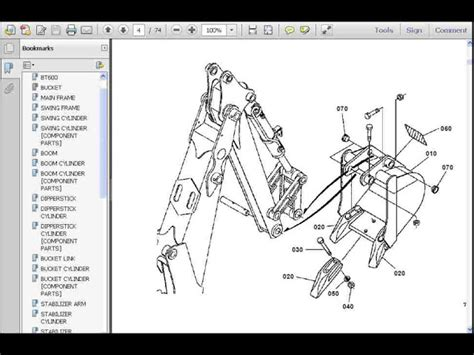 backhoe parts diagram kubota bt600 parts manual for bt 600 tractor backhoe part