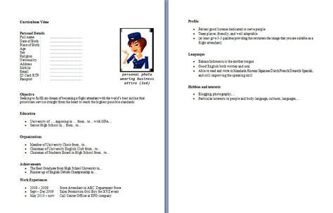 membuat resume cv tips membuat cv cabin crew yang menarik forum pramugari