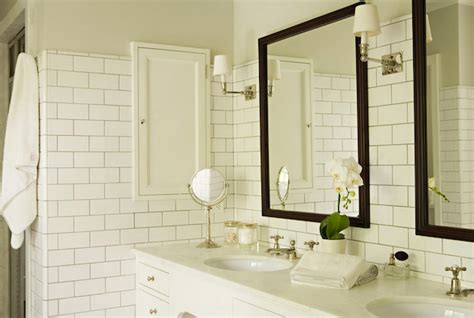 bathroom white subway tile choosing the best tile bathroom tile style options