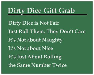 printable dice gift game dirty dice christmas gift grab game gift exchange game
