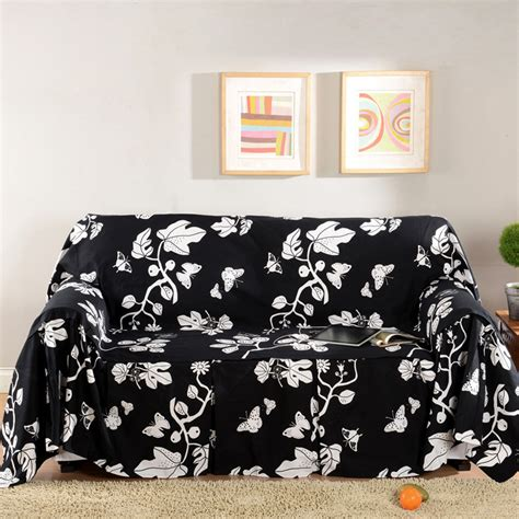 black and white sofa covers sofa towel sofa cover cloth 100 cotton fabric black and