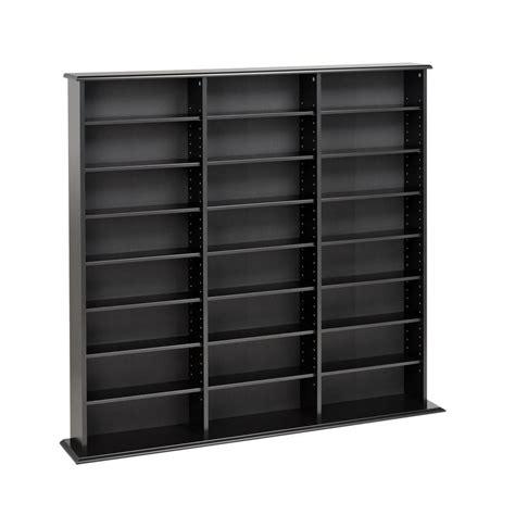 prepac media storage cabinet prepac black media storage bma 0960 the home depot