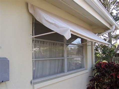 Build A Retractable Awning retractable window awning made of pvc frame drop cloth fabric