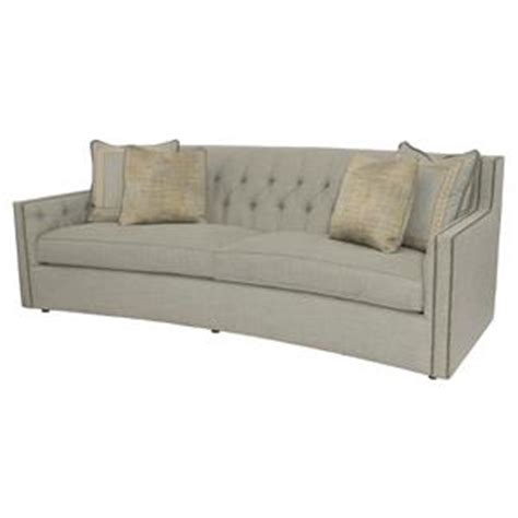 bernhardt cantor sofa with nail trim and low set arms
