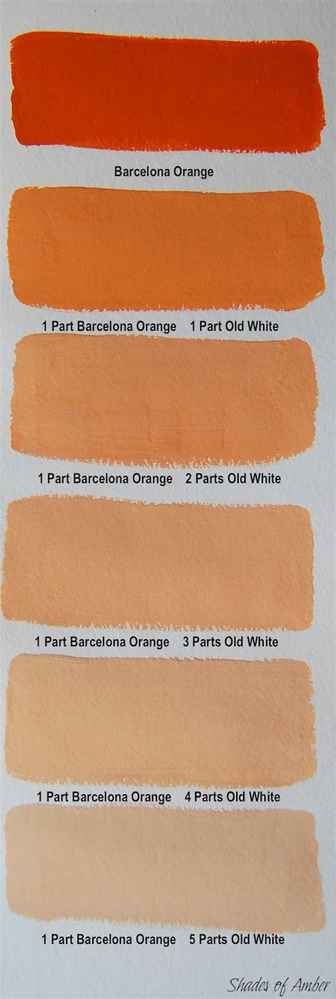shades of orange colour shades of amber chalk paint color theory barcelona orange