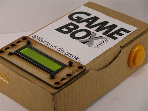 arduino console arduino an handheld console in a cardboard