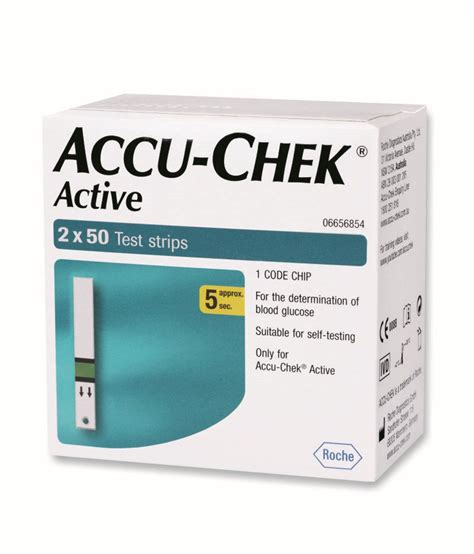 Accuchek Aktif accu chek active 100 test strips 2 x 50 expiry may 2017 buy at best price in india on
