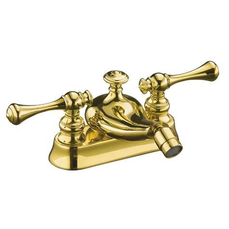 shop kohler revival vibrant polished brass 2 handle high kohler revival 2 handle bidet faucet in vibrant polished