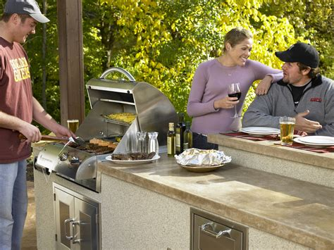 Built In Kegerator by Host An Outdoor Grill Party Official Outdoor Living Blog