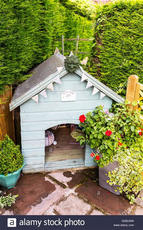 housing for dogs dog kennel wooden pet home garden homes for dogs outside living stock photo royalty