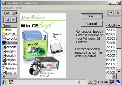 download embedded windows ce sapi 5.0