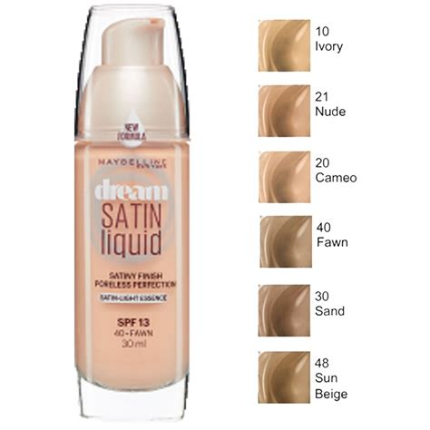 Maybelline Satin Foundation maybelline satin air brush perfection liquid