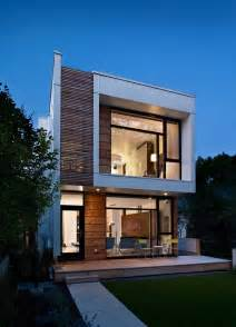 modern house exterior deceitfully small thin house looks small on the outside
