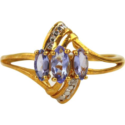tanzanite ring 18kt yellow gold from