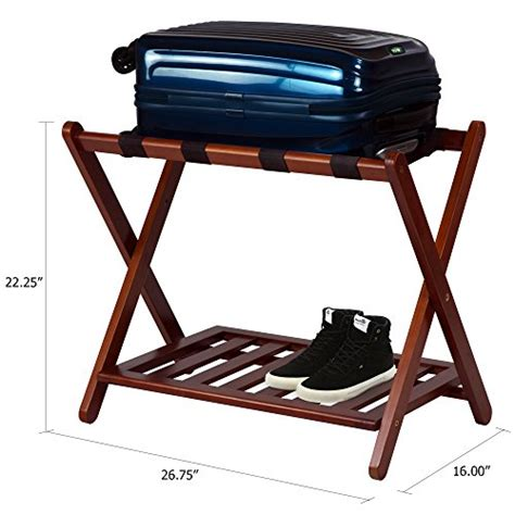 Luggage Rack Hotel Style by Casual Home Luggage Rack With Shelf Desertcart