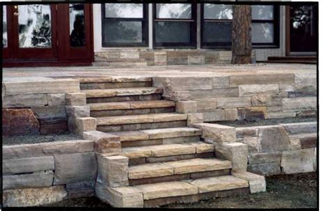 Flagstone Patio Steps by Laid Flagstone Patio And Steps