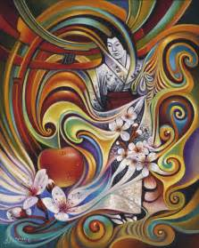 Dynamic Blossoms Painting By Ricardo Chavez Mendez
