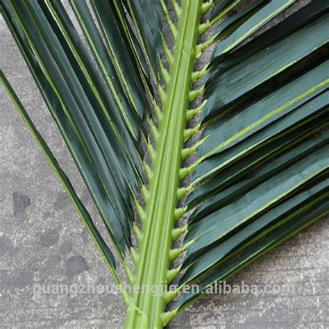 q100703 plastic palm leaves high quality artificial palm