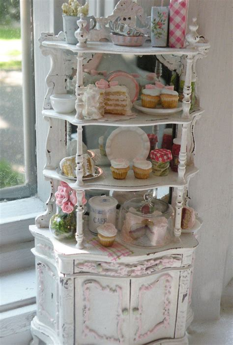 etagere shabby chic miniature bakery shabby chic etagere accessorizing your