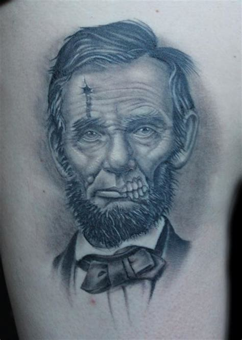 abraham lincoln tattoo dead president abe lincoln by shane baker tattoos