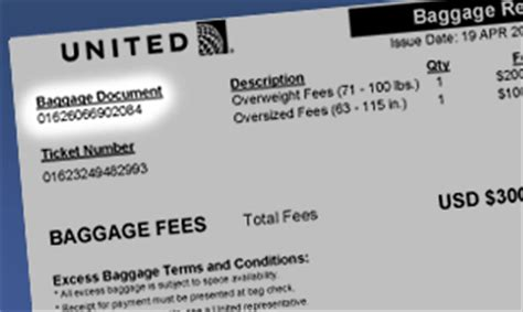 baggage fees for united united airlines excess baggage united airlines excess