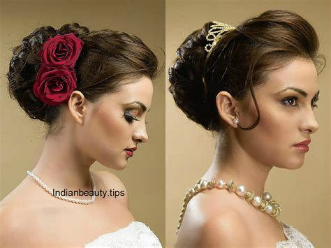 Elegant Wedding Hair Style | 30 elegant bridal updo hairstyles indian beauty tips