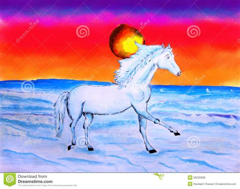 Schilderen In De Zon by Het Schilderen De Reeks Het Paard En De Zon