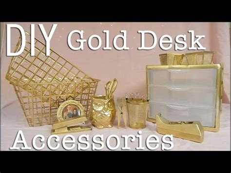 white and gold desk accessories diy affordable easy gold desk accessories whiskey