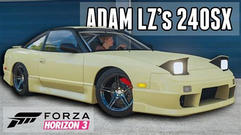 adam lz 240 adam lz s 240sx youtuber car builds forza horizon 3