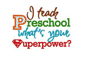 Create Your Own Wall Stickers Quotes i teach preschool whats your superpower applique instant